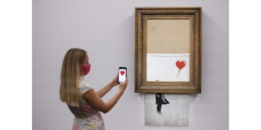 Частично уничтоженную картину Бэнкси продали в 18 раз дороже